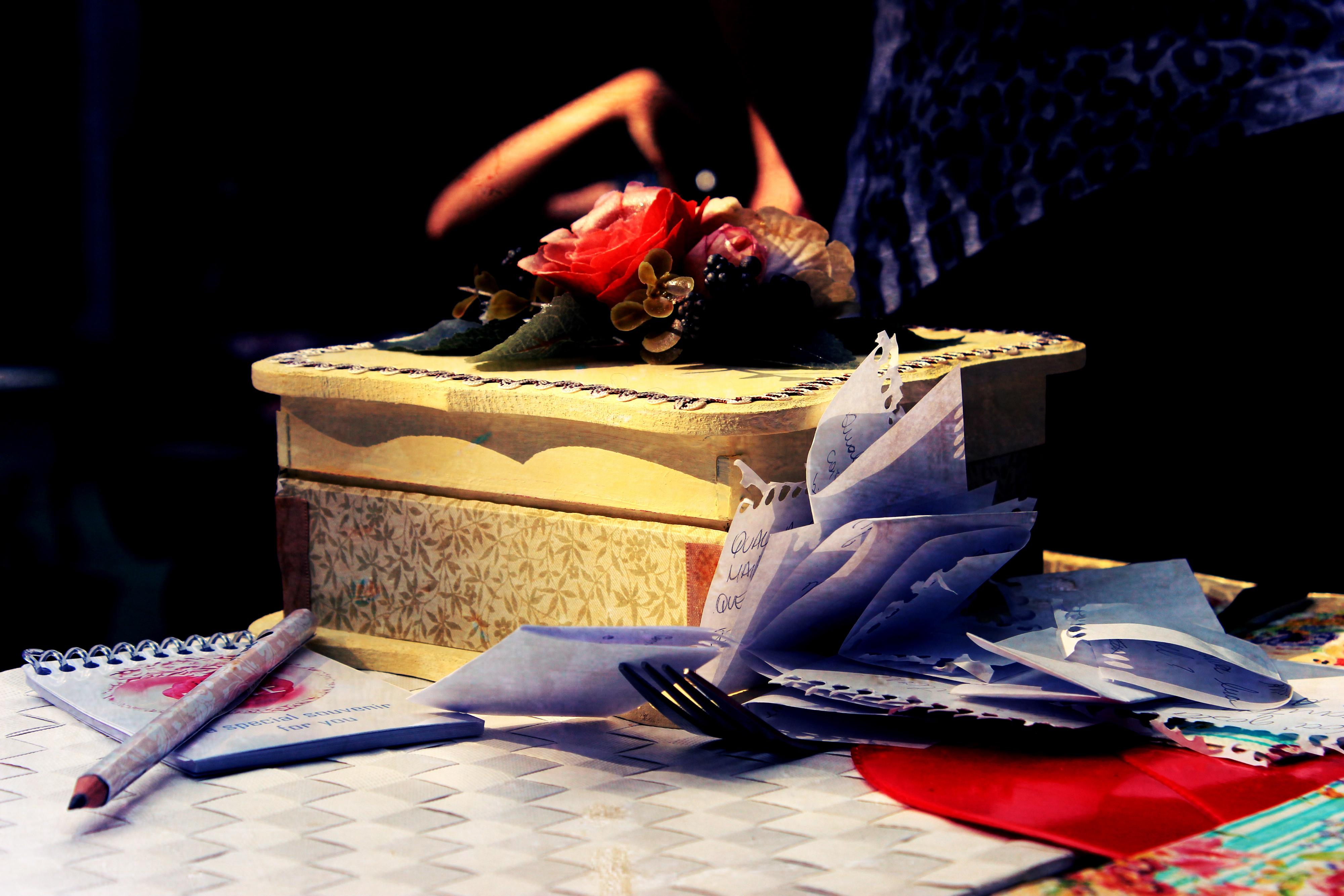 Caixa decorada Noiva que Inventa Moda