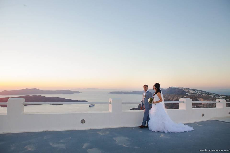 Casamento Santorini Andre e Luana Lulu no Pais das Maravilhas