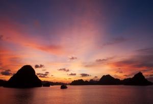 ilha por do sol