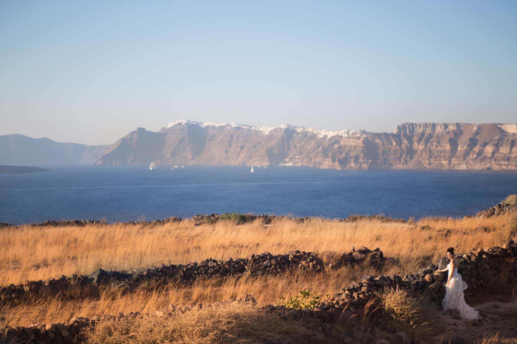 memórias de uma noiva de Santorini