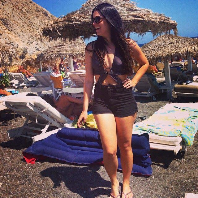 Praia de Perissa o que fazer em Santorini