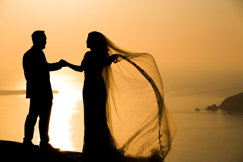 fotos casamento em Santorini