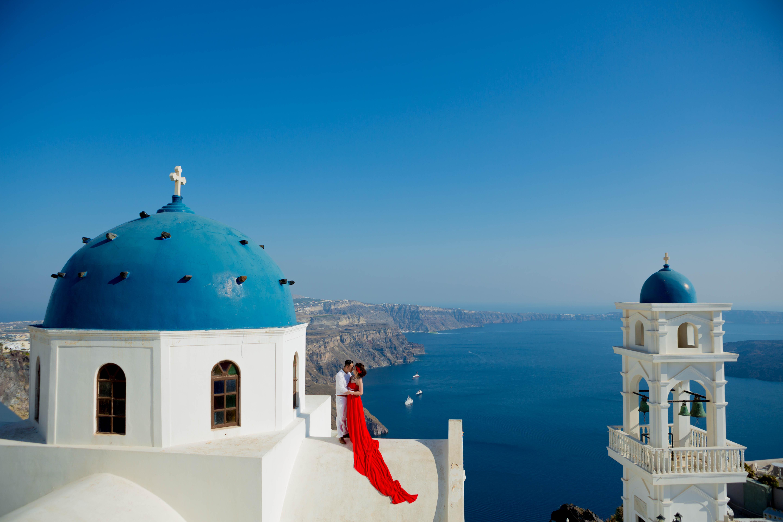 Fotos casamento em Santorini_