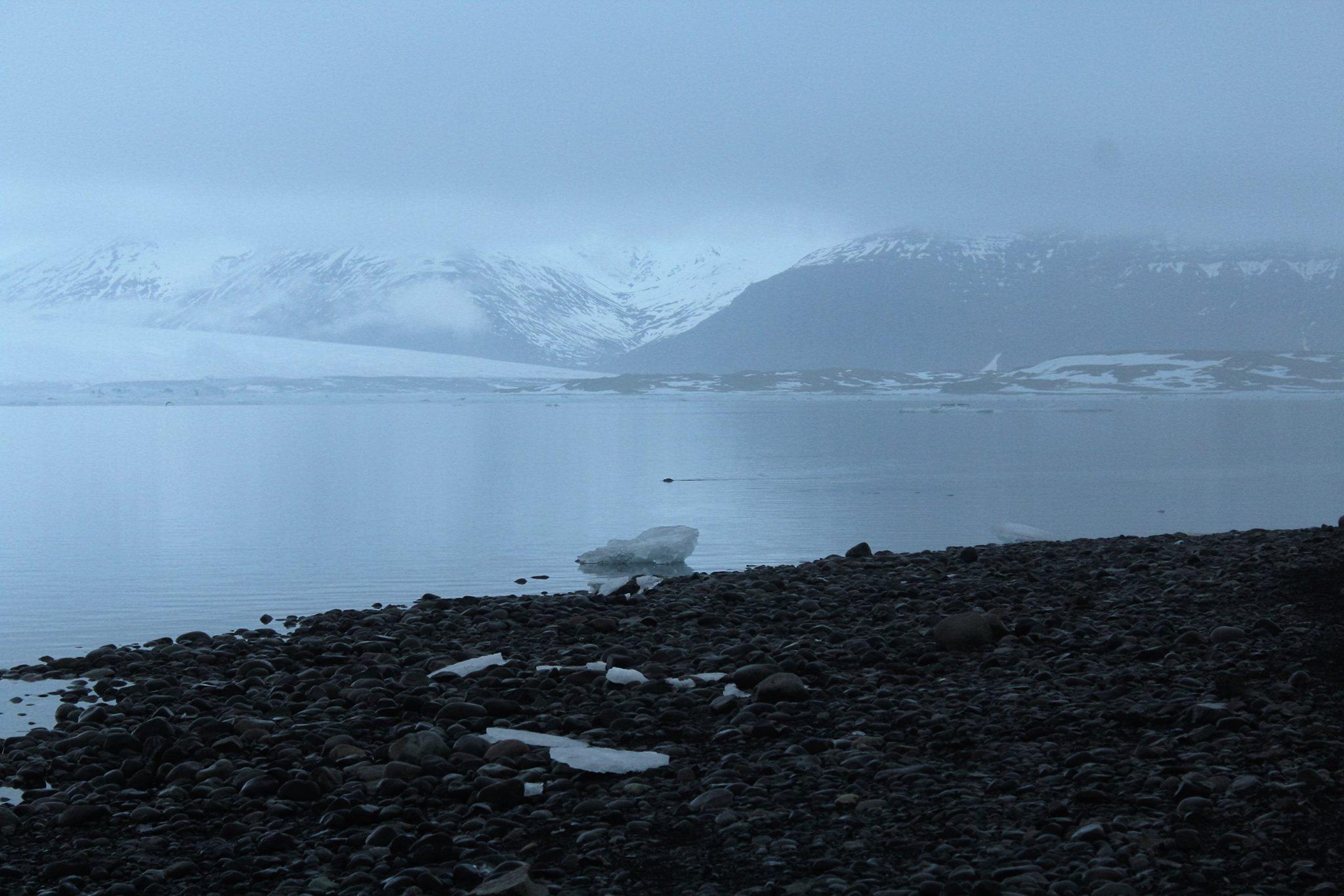 lagoa glacial sombra