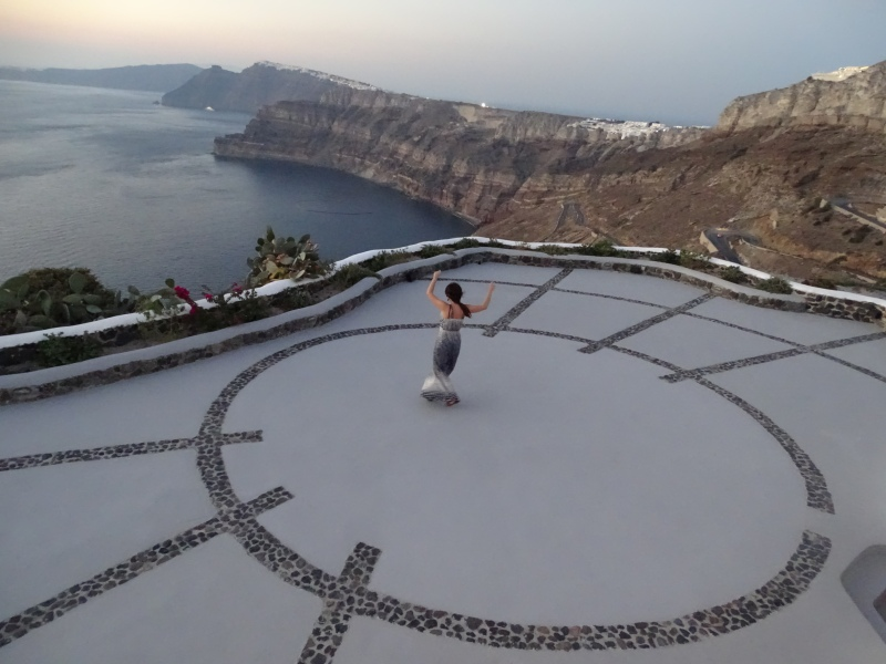 vida em Santorini