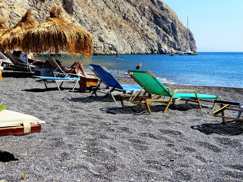 Praia de Perissa Santorini Grécia 1